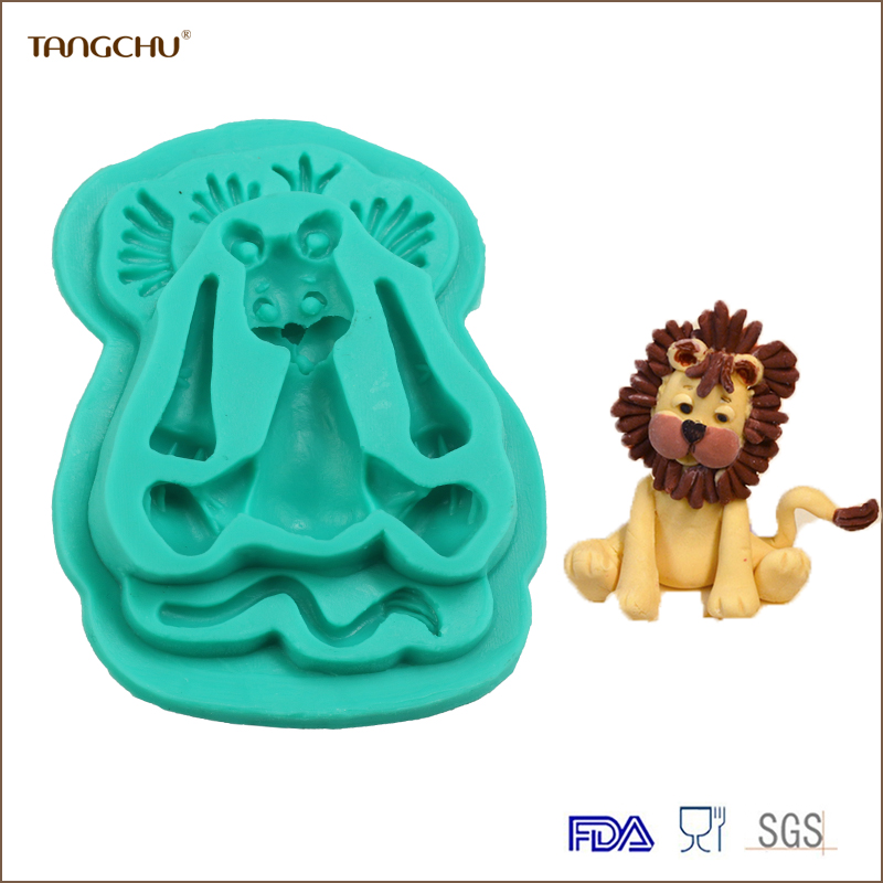 2017 Wholesale New Decoration Tools Baking Moulds Cartoon lion Shape 3D Cake Baking Mold