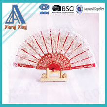 Chinese colorful custom summer advertising fan plastic hand fan for promotion