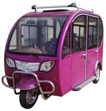 Closed type electric tricycle taxi with 6 seat passenger bajaj three wheeler tricycle