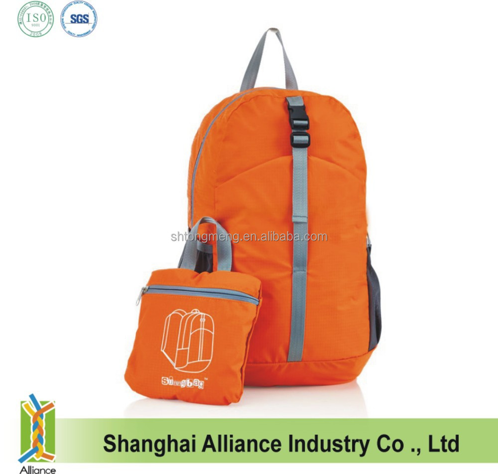Promotional Nylon Waterproof Lightweight Foldable Backpack Bag