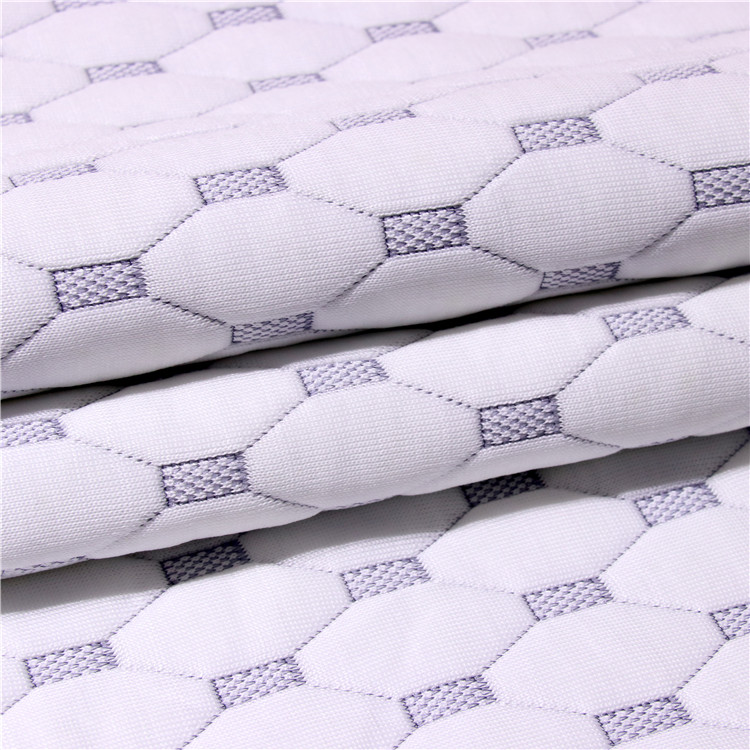 Attractive designs jacquard air mesh knitted mattress border fabric