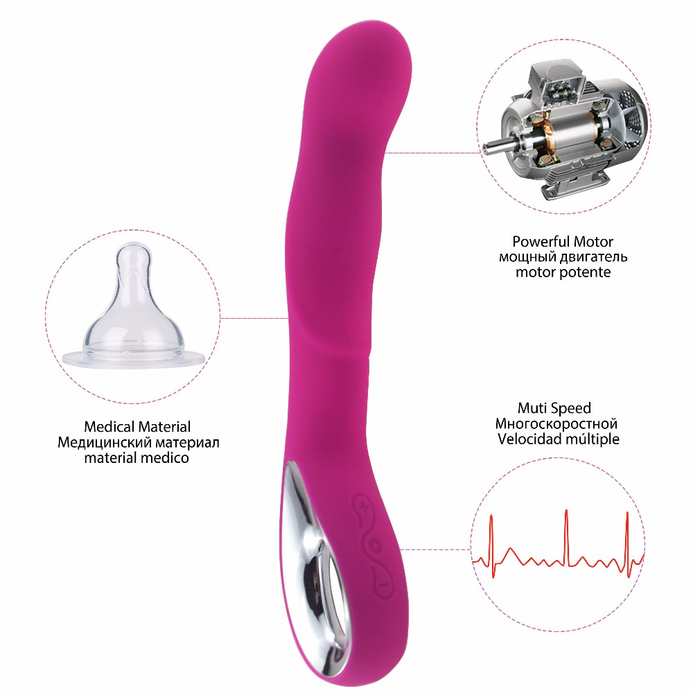 Multi-Speed USB rechargeable Silicone Dildo Vibrators For Women