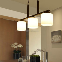 Fashionable Three Headed Glass Lamp Modern