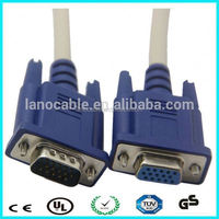 VGA cable hd15p male to female with two ferrites