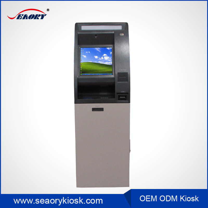 2016 atm payment machine,self payment kiosk terminal with bank card reader