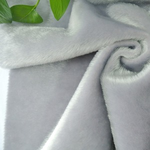 Shaoxing textile Faux Fur Fabric mink fur flocked fabric artificial animal hair flock fabric for garment