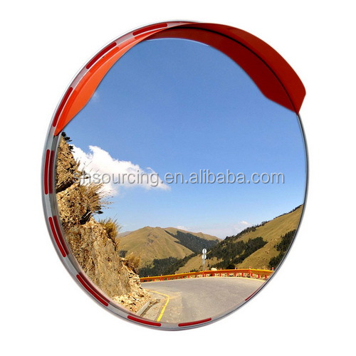 Orange 180 Degree Road Convex Rear View Mirror