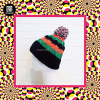 4BH06 BU winter sporty kid watch cap