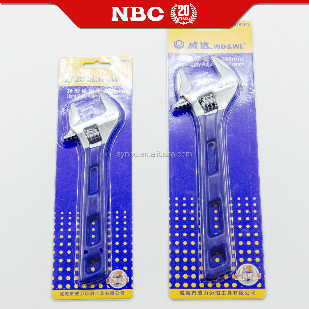 Professional Hand Tool Adjustable Wrench In Different Size Spanner Set With Long Handle