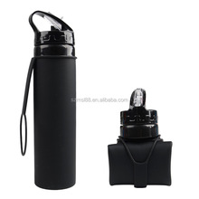 Silicone Foldable Portable Sports Bottle for Camping Hiking Collapsible Water Bottle