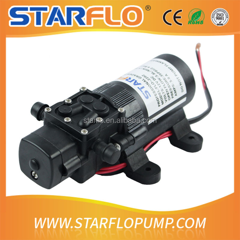 STARFLO FLO-2202 3.8LPM 35psi electric diphragm water pump sprayer / 12v dc mini water pump