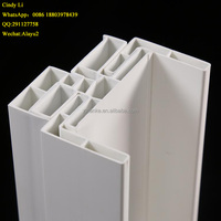 China manufatcory Anti-UV extrusion White lowest price two tone upvc profiles