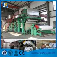 2880mm new condition waste paper recycling for tissue paper machine