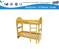 $86.00(HC-2314) Family lovely style wooden kids double deck bed Kindergarten nature wood bed turkish bedroom