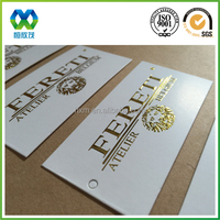 Custom logo prinitng paper hang tag with small holes for jewelry