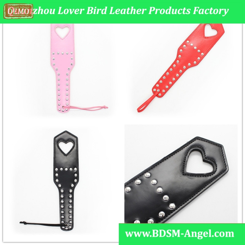 1PC Pu Leather Holllow Heart Sexy Bondage Spanking Paddle Fetish Slave Sex Torture Games Spank lash Products Toys For Couples