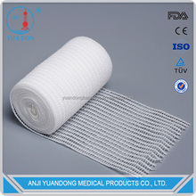 Bleached High Absorbent Cotton Gauze Rolled Bandage with FDA, CE, ISO