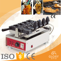 hot sale Korean ,Japan ice cream cone fish shape with open mouth taiyaki maker/ machine