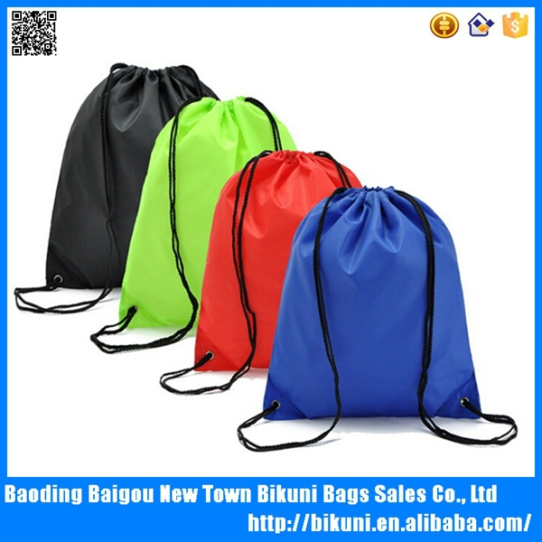2015 Promotional Cheap High Quality Customized Logo Sport Shoe Drawstring Backpack