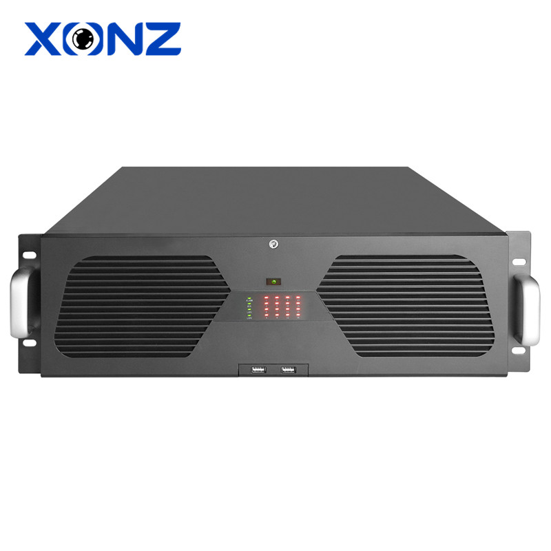 Intelligent H265 64CH Channel 4K 5MP 4MP 3MP 1080P 16SATA CCTV Onvif NVR CE ROHS With 16CH Alarm