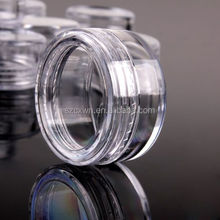 Small Empty Clear Plastic Cosmetic Sample Container 5 Grams Jars Pot