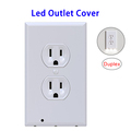 Private Label Universal Safety Guidelight LED Outlet Cover Plate with Night Lights