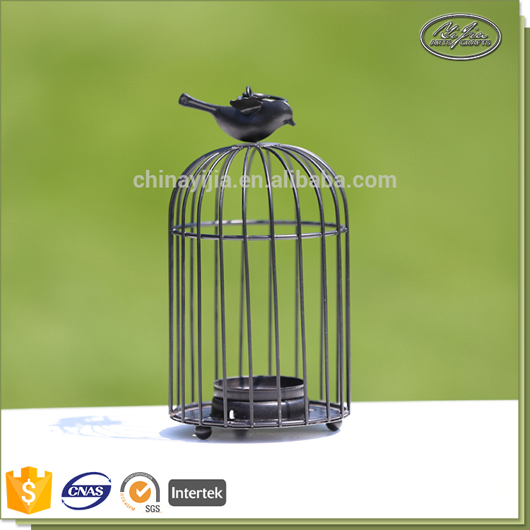 Wholesale good quality custom decorative bird cages metal candle holder