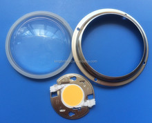 COB LED lens for CREE 3590, LED glass lens 100mm 80degree with IDEAL Solderless holder