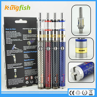 New variable voltage ecig 1.5ohm atomizer evod twist 3 m16 bud touch cartomizer with factory price
