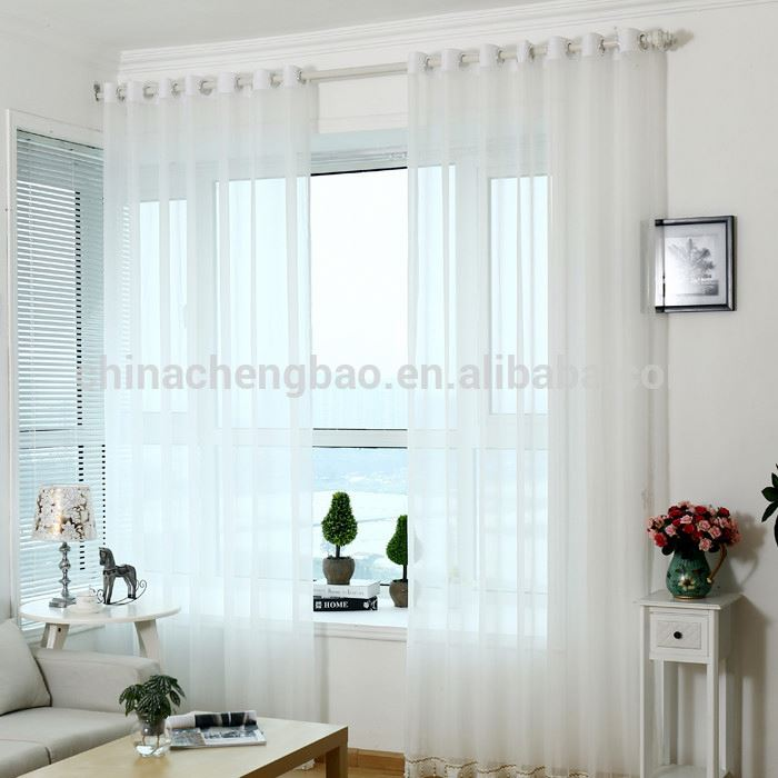 white crochet lace home use polyester sheer curtains pattern