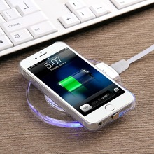 New electric mobile phone universal qi wireless charger for Smasung galaxy s7 edge plus, Crystal Saucer K9