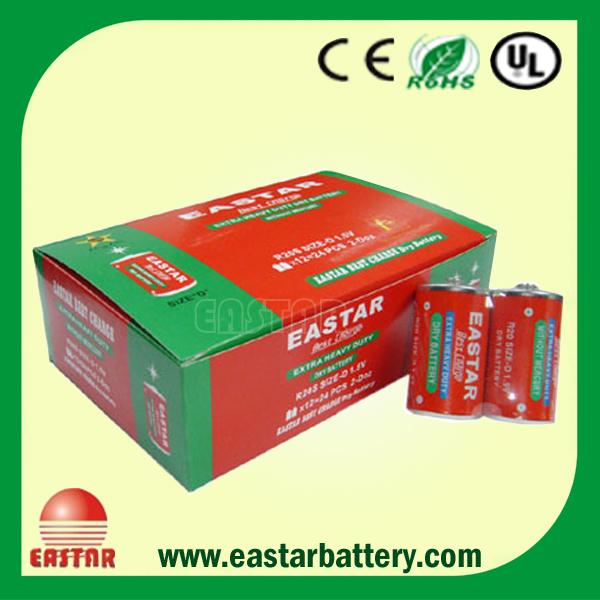 Carbon Zinc R20 battery UM1 battery Size D battery