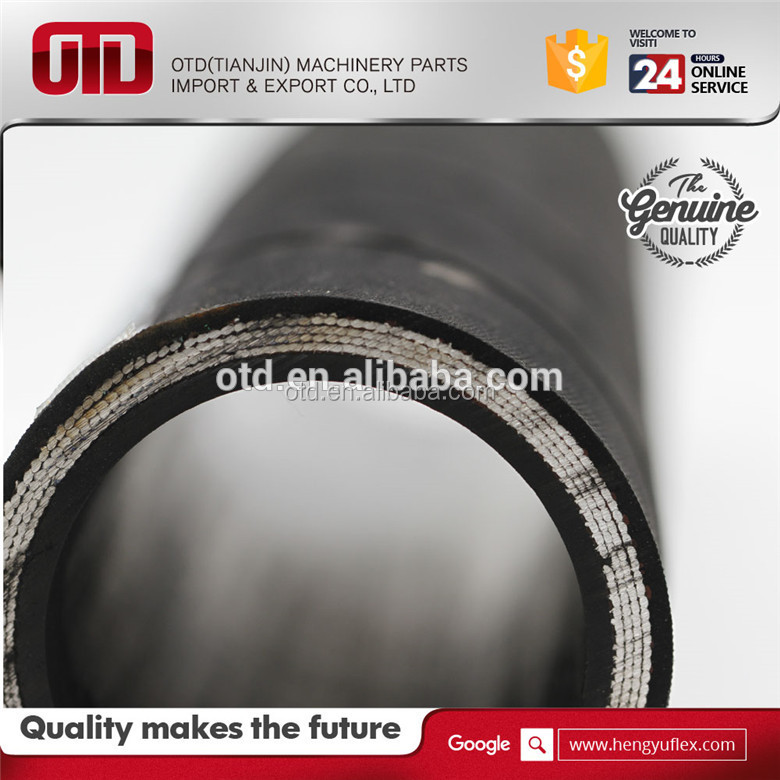 SAE DIN EN standard hydraulic rubber flexible hose for crimping machinery /cement /concreter