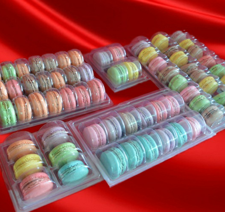 1 2 4 6 8 12 24 35 50 60 70 cells packs holes macarons cakes chocolate soft thin plastic blister trays