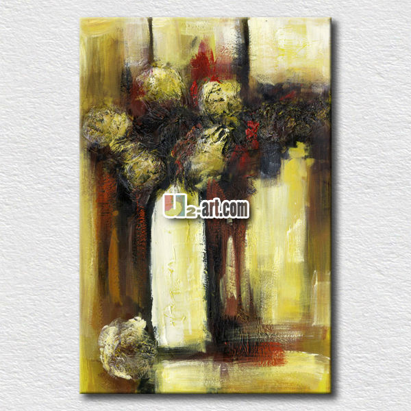 Stretched canvas abstract art pictures for hotel room wall decoration