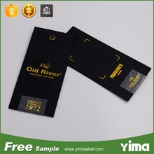 China wholesale custom LOGO brand name product tags and clothing hang tags
