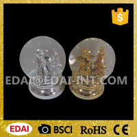 Wholesale Christmas Plated Golden Water Snow