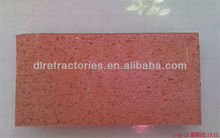 8# RED China sintered clay permeable paving bricks for sale