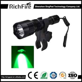 hunting torch light night portable vision gun mounted hunting torch, zoom hunting torch light