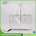 Reusable Transparent Shopping Zipper Pvc Travel Bag With Soft Handle