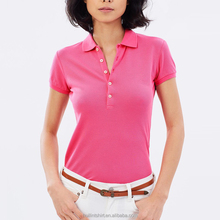 clothes women ladies pink tone new design polo t shirt