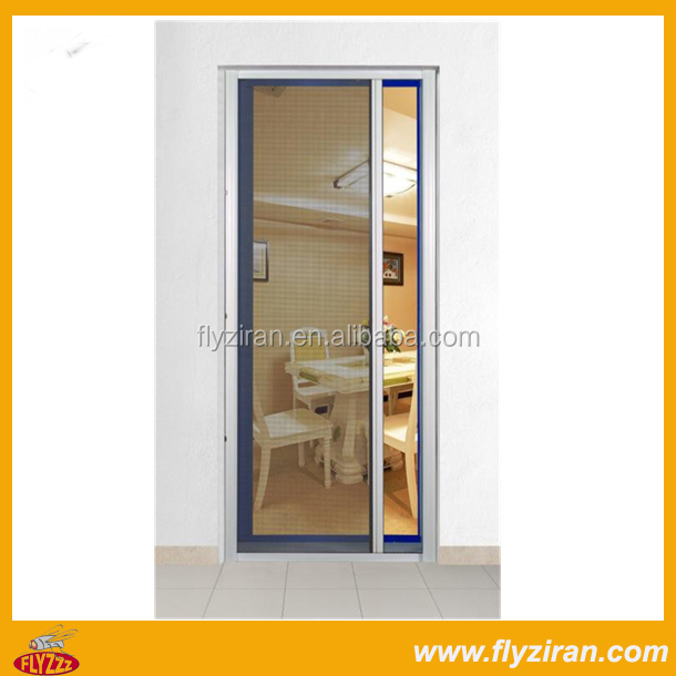 Retractable fiberglass interior slide screen door buy for Interior retractable screen door
