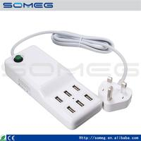 Multifunctional usb travel charger usb charger rabbit vibrator 6 port usb charger made in China