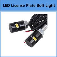 Universal 8000K Pair 12V LED SMD License Plate Bolt Light Lamp Bulb Super Bright