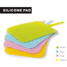 Simplify Collection silicone drying mat, Silicone Trivets Mat With Folding Tie