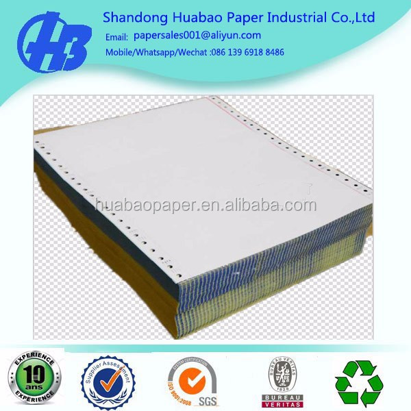 "1-Part Computer Paper Bond Continuous Form 20lb 9 1/2"" x 11"" 2550 Sheets"