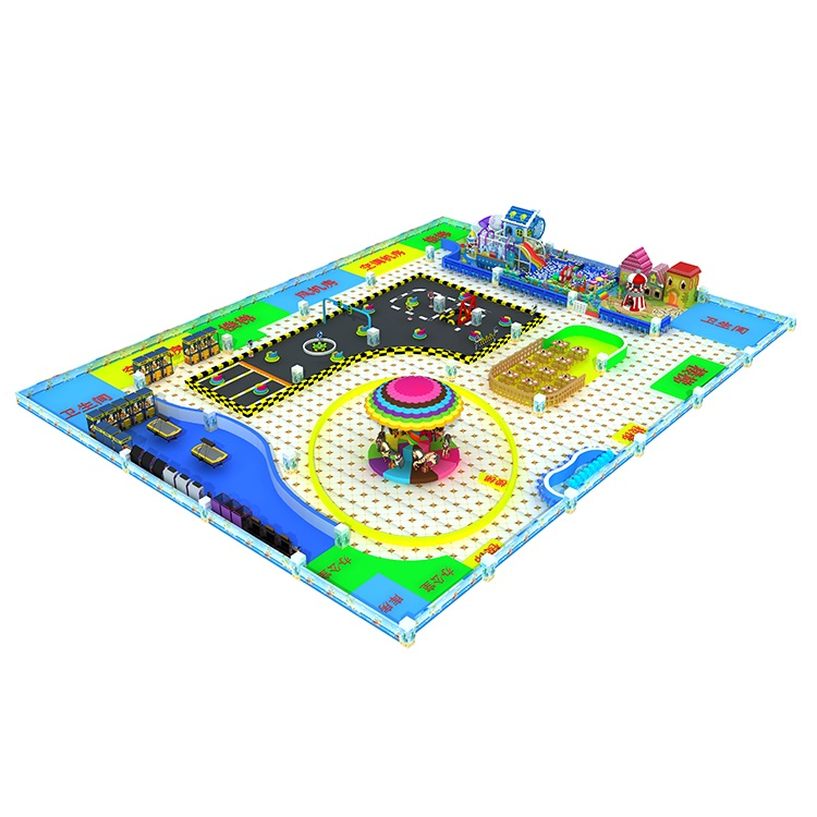 Kids indoor multi-function play zone, sand play playground equipment manufacturer