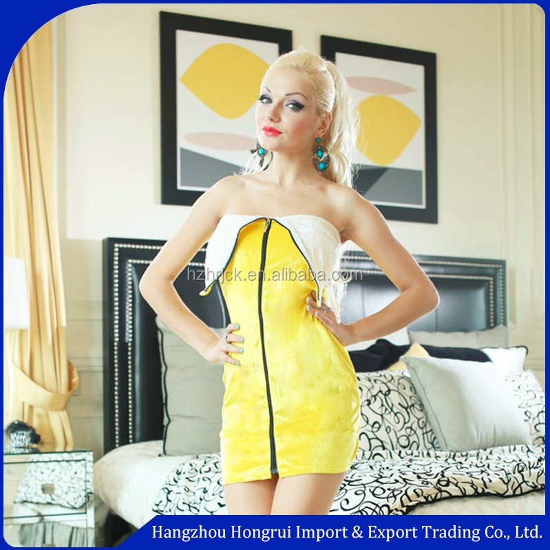 Party halloween adult carnival wholesale Adult fruit outfits banana costume