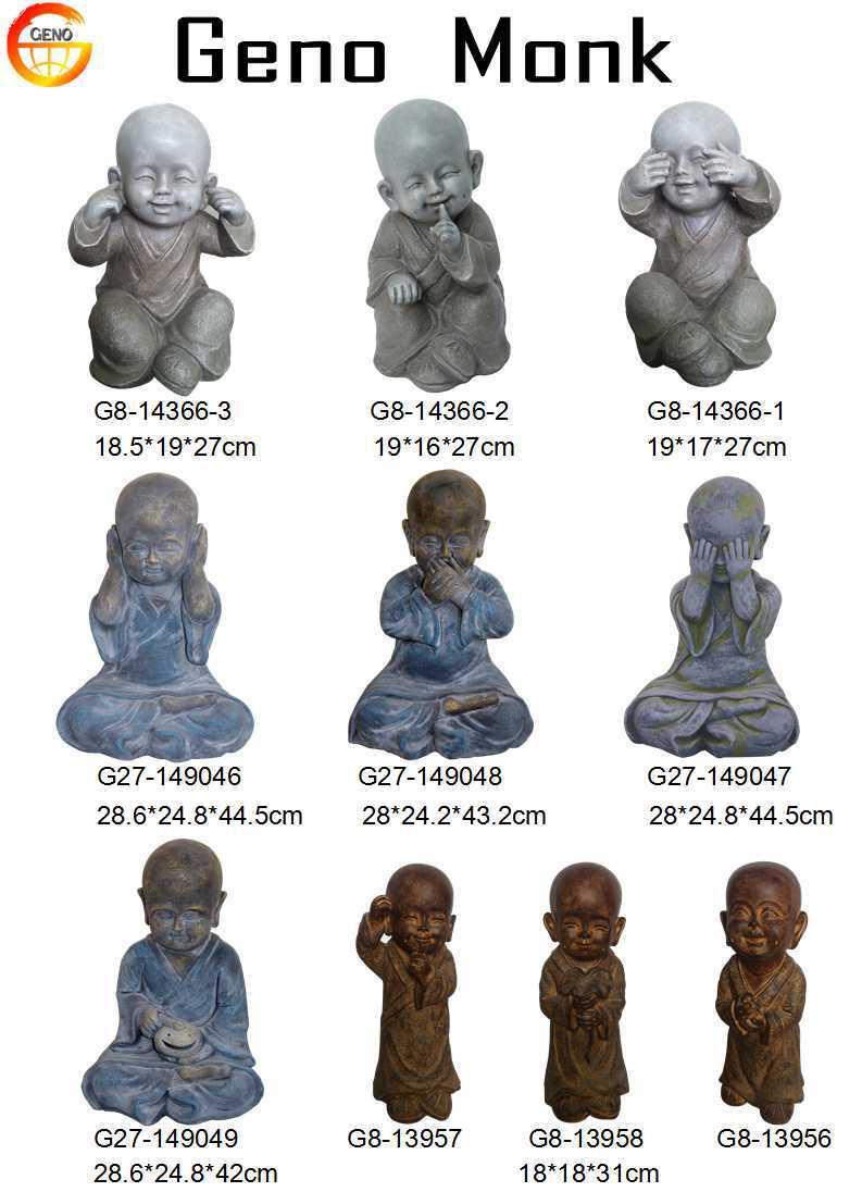 Cute little clay resin buddha statue garden decor buy - Figurine de jardin ...