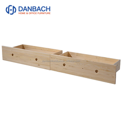 Simple And Natural Solid Wood Drawers With Wheels Matching Bunk Bed Youths Cot Storage